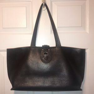 Furla Dark Brown Tote Bag